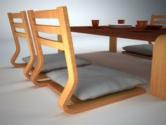 3d japanese furniture set model - Japanese furniture set... by ewdan