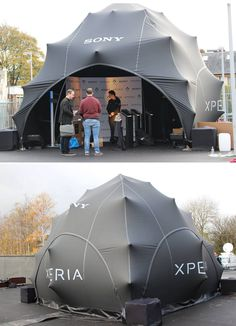 Sony Branded Clearspan Stretch Pod - www.stretchstructures.co.uk