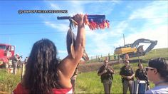 Stopping the Snake: Indigenous Protesters Shut Down Construction of Dakota Access Pipeline; Video via democracynow.org