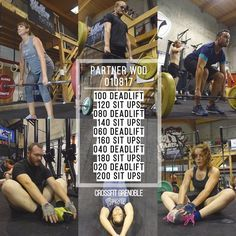 "Instagram: ""PARTNER WOD 010817 #CrossFit #Grenoble #CrossFitGrenoble #Wod #Training #OriginalAthlete #smh…"""