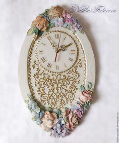 """Часы для дома ручной работы. Ярмарка Мастеров - ручная работа. Купить Часы настенные """"Romantic"""". Handmade. Белый, часы в подарок"""