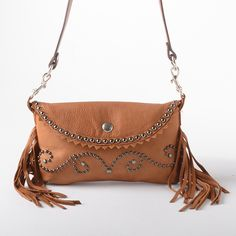 Hopi Scroll Saddle Tan Bag by Patricia Wolf - Accessories - National Cowboy Museum