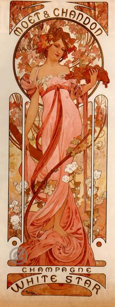 """Moët & Chandon - White Star"" by Alphonse Mucha"