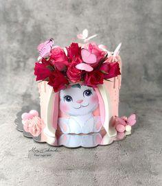 Kitten Cake, Birthday Cake For Mom, Girly Cakes, Creative Cake Decorating, Puppy Cake, Fondant Animals, Character Cakes, Cake Cover, Shower Cakes