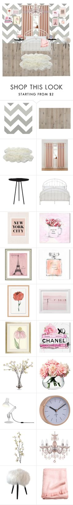 """""""Girl's bedroom"""" by legacy-housing on Polyvore featuring interior, interiors, interior design, home, home decor, interior decorating, Wall Pops!, Inspire Q, Urban Outfitters and Oliver Gal Artist Co."""