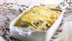 Lag en smakfull form med sei, spinat, crème fraîche og potet, og server med sitronbåter og grovt brød. Du kan også bruke torsk eller hyse i denne oppskriften.