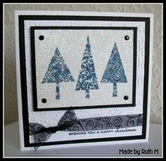 When I went to the Glitter Pot Christmas demo weekend I saw a lovely black and white Christmas card that Jackie Huckstepp had made.  It made...