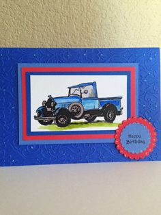 Old blue truck for his birthday by Kae
