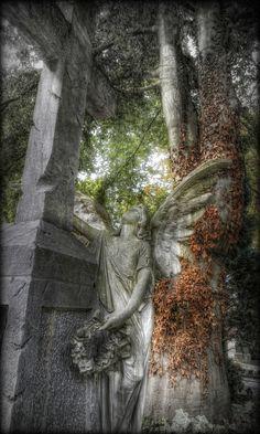 Angel - Protestantischen Friedhof in Augsburg.