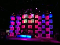 Attic Stage set - made cubes out of bubble wrap.