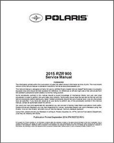 21 Best Polaris Service Manuals images in 2017 | Manual, User guide