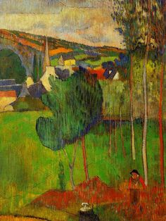 Paul Gauguin, View of Pont-Aven from Lézaven , private collection, 1888