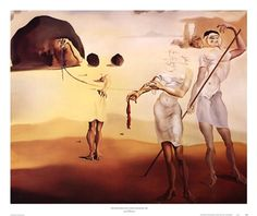 Salvador Dali - Enchanted Beach with Three Fluid Graces, c.1938