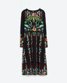 Image 8 of LIMITED EDITION FLORAL EMBROIDERED DRESS from Zara