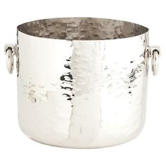 Grace Hammered Metal Container - Arteriors - $285.60 - domino.com #dominomag #pintowin