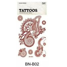New Lace Brown Henna Tattoo Sticker Totem Butterfly Sun 36 Designs Brand Temporary Tattoo Body Art for Women Tatuagem Brown Henna, Temporary Tattoo, Color Change, Body Art, Branding Design, Butterfly, 3d, Stickers, Tattoos
