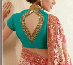All Latest 1000 Blouse Back Neck Designs 2018 – Blouse Back Neck Designs Blouse Back Neck Designs, Neck Designs For Suits, Sleeves Designs For Dresses, Choli Designs, Stylish Blouse Design, Fancy Blouse Designs, Saree Jacket Designs, Sexy Blouse, Saree Blouse