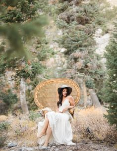 Bride | Desert Mountains | Wicker Chair | Las Vegas Elopements | Kristen Kay photography
