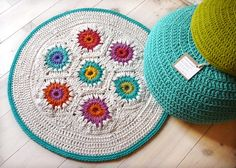 Rug Crochet hexagon by lacasadecoto on Etsy