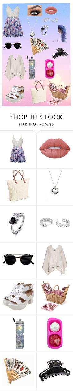 """""""picnic day"""" by sarah4ever123 ❤ liked on Polyvore featuring Ally Fashion, Lime Crime, Pandora, rag & bone, Picnic Time, Victoria's Secret and Free People"""