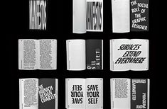 Manifestos celebrates 100 years of inspired texts on the subject of art and design. The piece is intended not just to present definitive design manifestos, but also to embody them.Benjami Critton's typeface Lydia is set in a single weight throughout the… Editorial Layout, Editorial Design, Editorial Articles, Subject Of Art, Experimental Type, Book Design Inspiration, Publication Design, Graphic Design Print, Art Graphique
