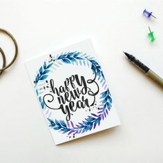Happy New Year.  This is an INSTANT DOWNLOAD Greeting Card.  --------------- INCLUDED --------------- 1 JPG ------------------  The inside