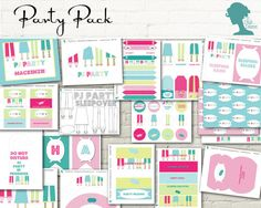 Party Printable: Pajama/Pyjama/PJ Party Value Pack $20AUD by The Digi Dame Etsy Shop digidame.etsy.com