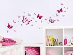 New Wandtattoo Zweifarbiges Schmetterlinge Set