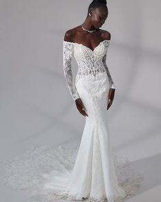"30 Mermaid Wedding Dresses You""ll Admire ❤ mermaid wedding dresses with illusion sleeves off the shoulder lace justin alexander #weddingforward #wedding #bride #weddingoutfit #bridaloutfit #weddinggown"