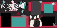 Bowling  Fun by EasyScrapKits on Etsy