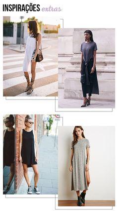 Tee | T-shirt Longa | looknowlook Blog #tendência #trend #comousar #getthelook #maxitee #tshirt #moda #inspiração #look #looknowlook