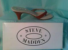 STEVE MADDEN Sandals Women's shoes size 8.5 Rapp  - Cognac Brown -Original box #SteveMadden #RAPPSlides