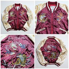 MODERN VOICE Tiger Tora Dragon Ryu Japanese Punk Rock YAKUZA Yanki Red Sukajan Jacket - Japan Lover Me Store