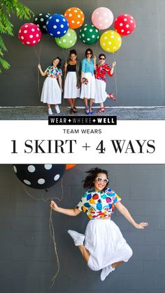 What the Women of Wear + Where + Well are Wearing : 1 skirt, 4 ways