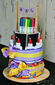 The Butlers: School Supply Cake