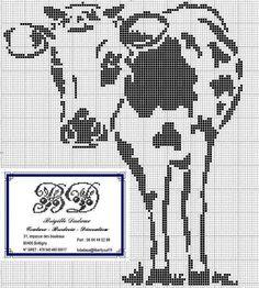 Cross-stitch Cow