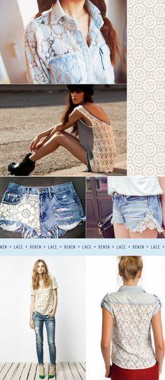 Renda com Jeans: Romantismo sob controle
