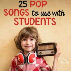 25 pop songs to use with students. These are great whether you are looking for songs to play at random times or songs to use for lessons! No need to fear the language or message that your students are hearing!