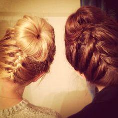 Zipper bun. I want long hair!