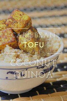 Caribbean Tofu with Coconut Quinoa – tasty tofu! seitan& tempeh vegan- sehrwohl leckerer Tofu, Seitan, etc. Veggie Recipes, Whole Food Recipes, Cooking Recipes, Healthy Recipes, Vegan Tofu Recipes, Tofu Dinner Recipes, Firm Tofu Recipes, Dinner Healthy, Pumpkin Recipes
