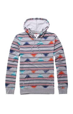 Mens On The Byas Shirt - On The Byas Ethnic Fade Hoodie