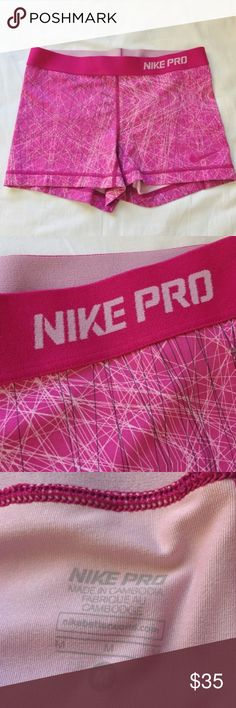 Rare Pink Nike Pro Spandex Shorts Rare. Worn but still in fantastic condition. Nike Shorts