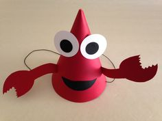 CRAB Birthday Party Hats (Set of 6) -- Can you hear the clicking of their claws? by AnnaliseJDesigns on Etsy https://www.etsy.com/listing/174155382/crab-birthday-party-hats-set-of-6-can