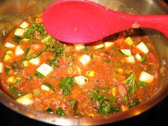 Cranberry bean fagioli with zucchini