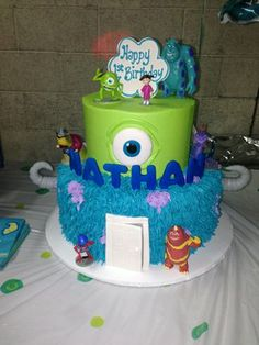 Disney Monsters Inc. Birthday Cake...need to make this for my bestie!! she'd die!