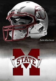 Doesn't an awesome helmet deserve to be taken care of?  Try Stuffitts antimicrobial drying inserts - no more wet, nasty helmets.  Mississippi State Bulldogs - concept football helmet