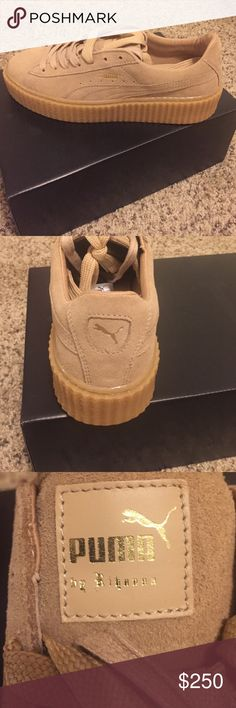BRAND NEW FENTY PUMA OATMEAL CREEPERS YES THET ARE AUTHENTIC!!!!!  Size 10 never been worn tired on one shoe comes with box and extra shoe laces never received a shoe bag with it. Question asked!!! Puma Shoes Sneakers