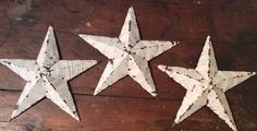Amish Barn Tin Star White 12  , Great Vintage Christmas Decoration