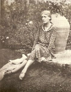 Virginia Woolf at her Sussex home, Monk's House, in 1931.