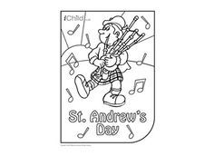 enjoy colouring in these activities with this activity you can colour in your very own st andrews day scene